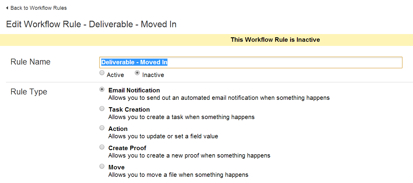 deactivate workflow