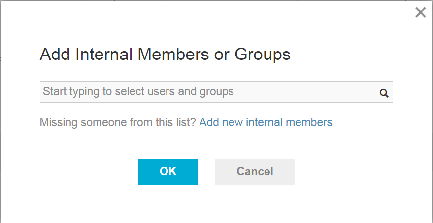 Add internal members