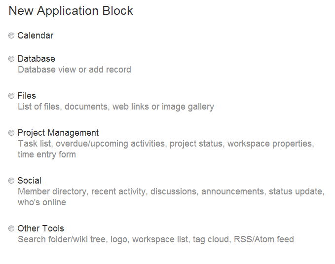 App Block Choices