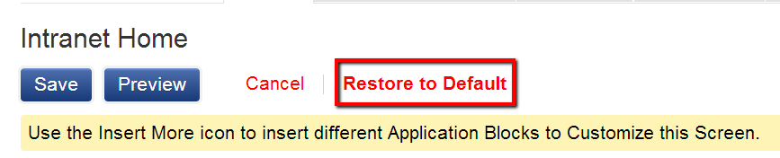 Restore To Default