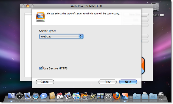 Setting up WebDrive (3rd party app) on Mac OS X – iMeet