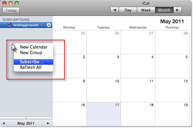 Calendar Url