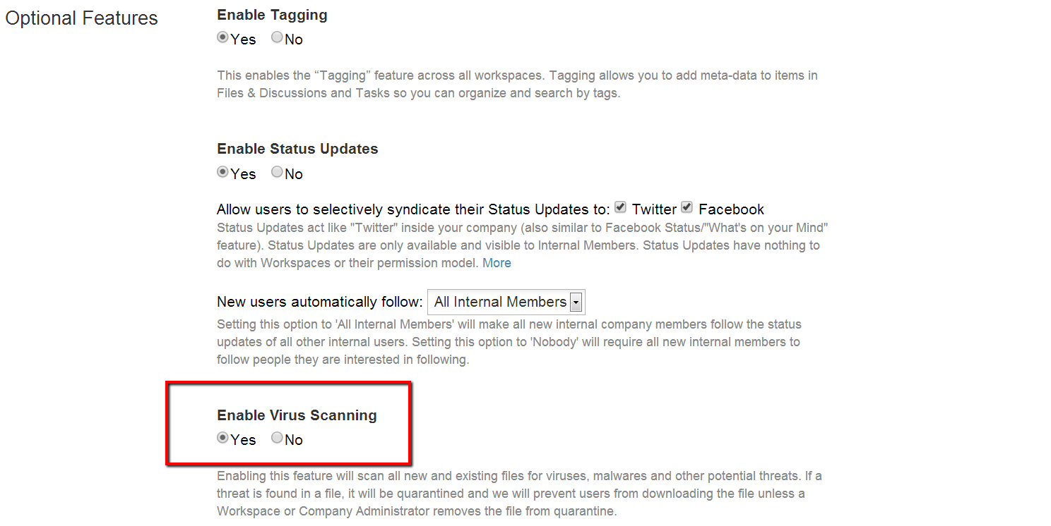 Enable Virus Scanning