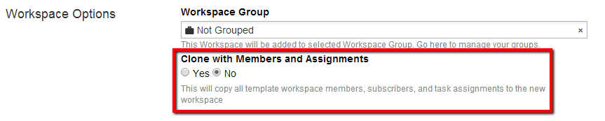 Clone Members and Assignments option