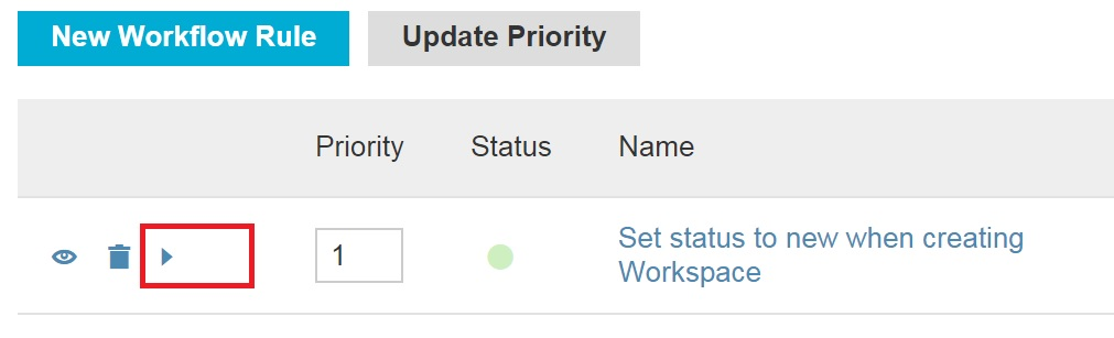 Action Workflow for Workspaces