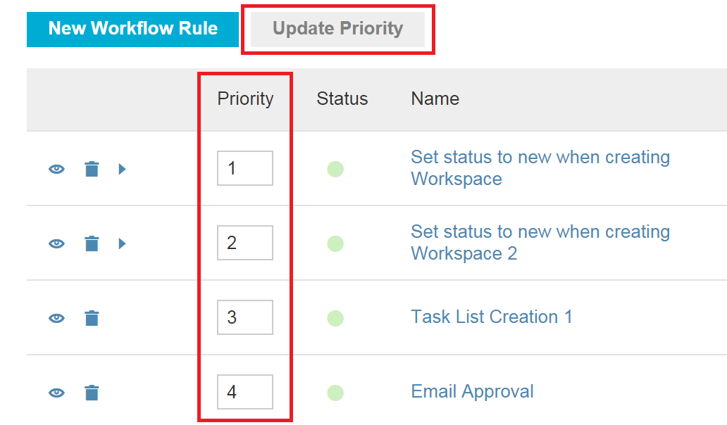 Workflow Rule Priority