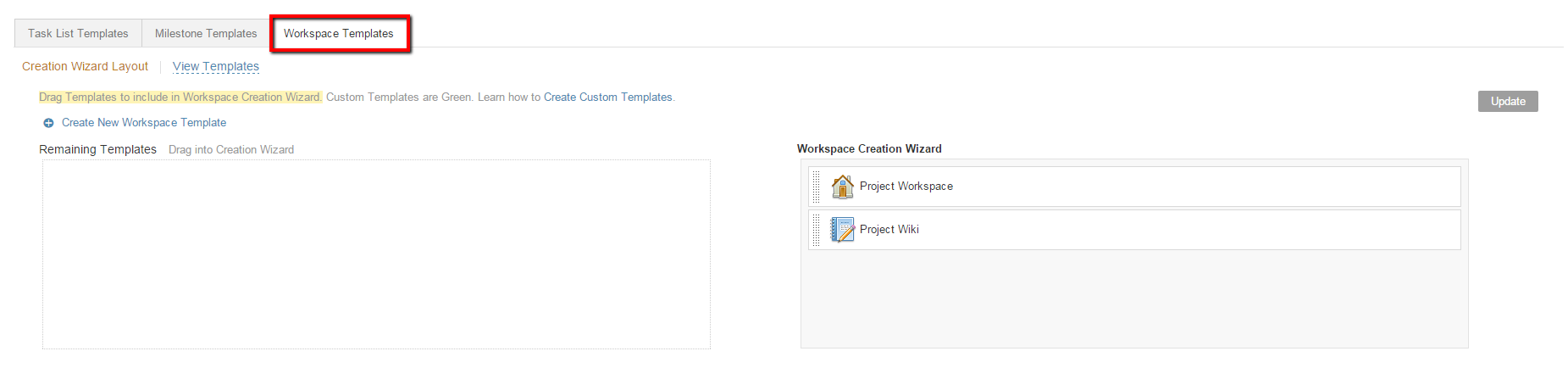 workspace templates imeet central help center